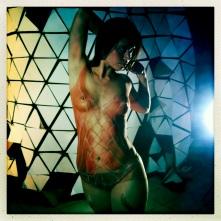Réalisation du body painting pour scéance photo, Paris