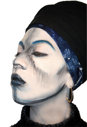 Réalisation du maquillage pour particulier sur le thème de Enki Bilal